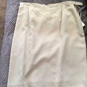 Jones New York Taupe 100% Silk Skirt~ Size 12